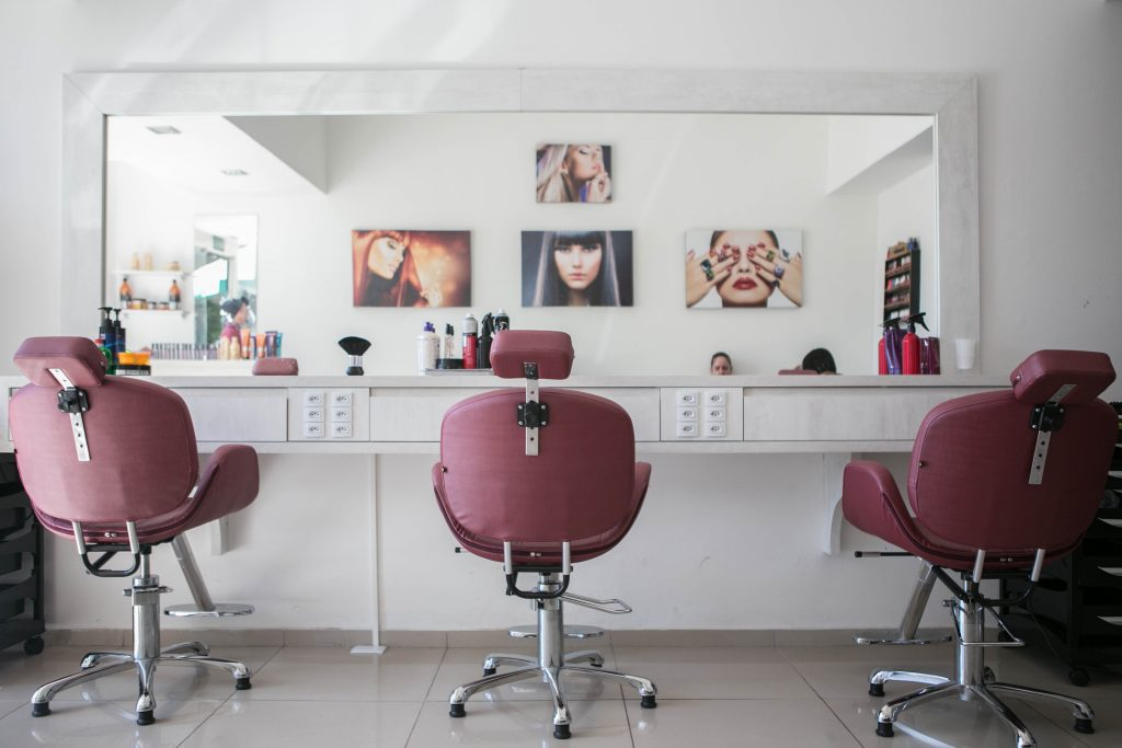 interioir of a salon