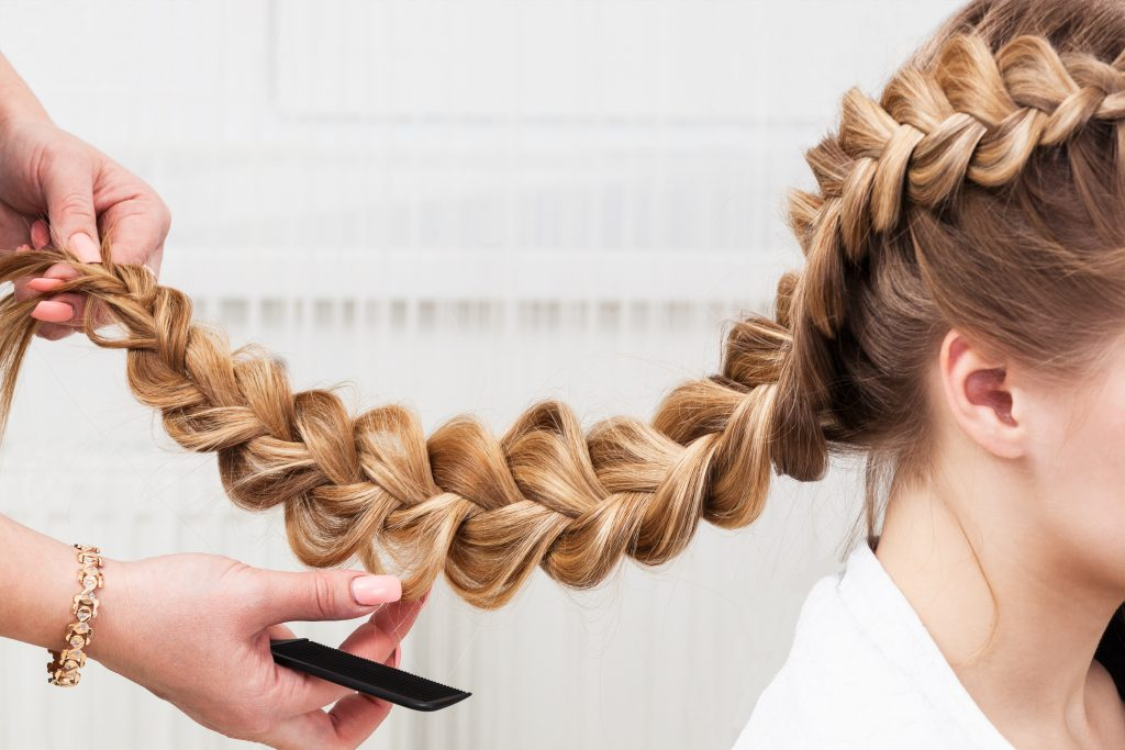 braided blonde hair