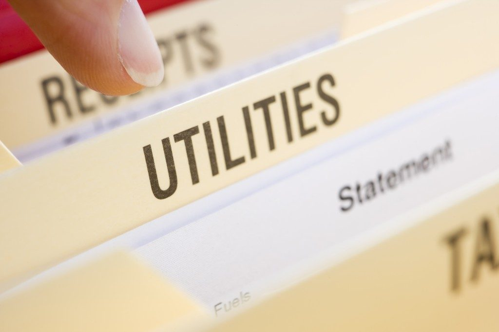 Business Files Containing Utility Bills