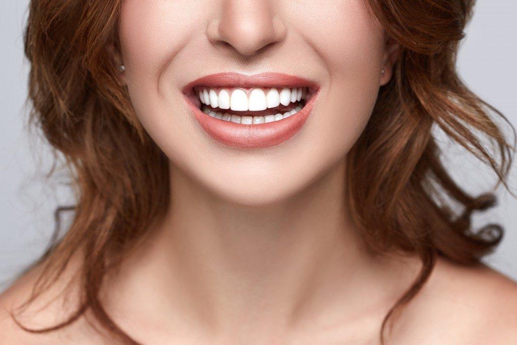 a woman's teeth