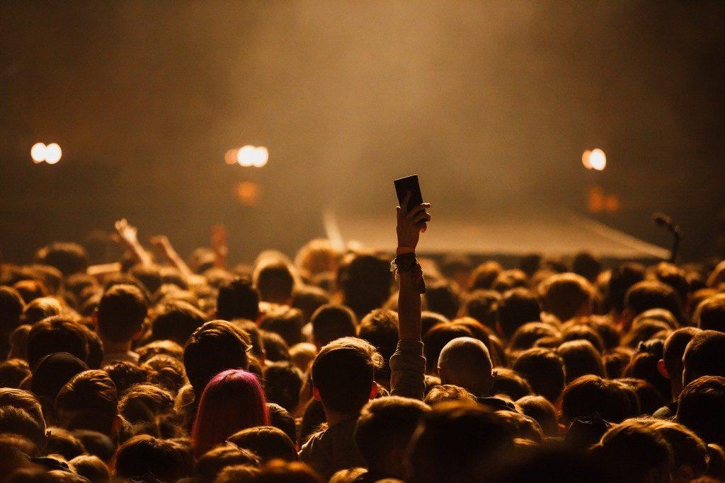 watching a concert