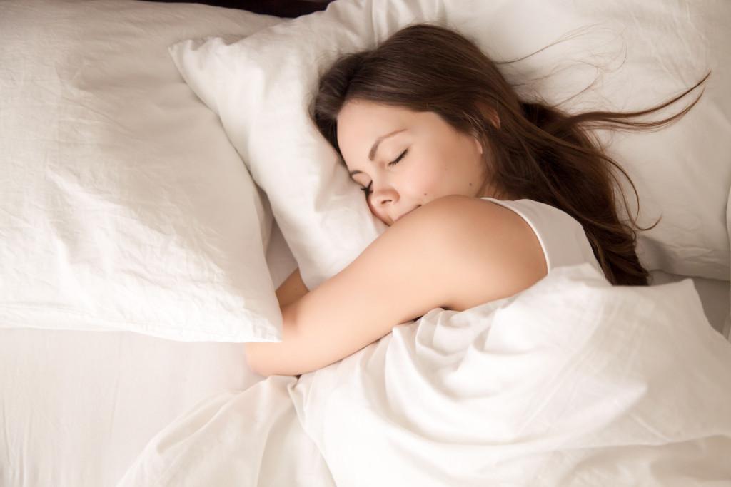 woman sleeping concept