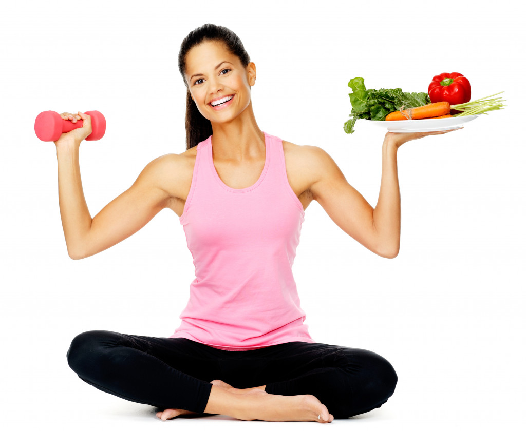 wellness with exercise and healthy eating